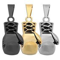 1 Kettenanhänger Boxhandschuh Anhänger Edelstahl Halskette Königskette Herren