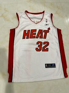 Miami Heats Shaquille O'Neal Basketball Mens Jersey minor defects White