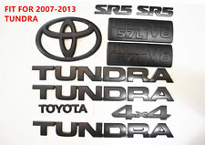 FOR 2007-2013 Toyota Tundra Matte Black Out Emblem Badges tailgate 10 Piece Kit