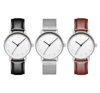 Bauhaus Minimalist Unisex Watch - Swiss Movement - Mens Womens Minimal Modern