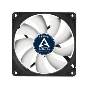 Arctic Cooling F9 Silent 92mm 90mm Case Fan 1000 RPM, 21.2 CFM Airflow