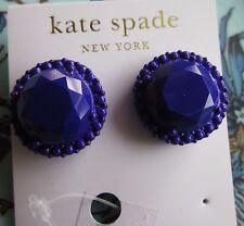 Kate Spade New York Stud Earrings Painted Jewels African Violet Purple Huge!