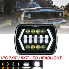 "1pcs 7x6"" 5x7"" inch LED Headlight DRL Turn Signal For Nissan Toyota Pickup Truck"