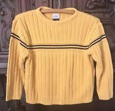 Arizona Boys Pullover Crew Neck Sweater Size 7 Orange Navy Stripe