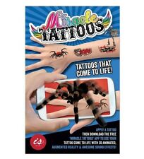 MIRACLE MAGIC TATTOOS 3D Action Tattoos, 2 Sheets, 8 Designs, 24 Tattoos NEW