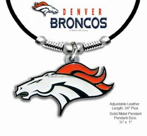 DENVER BRONCOS NECKLACE for MALE or FEMALE NFL FOOTBALL SPORTS - FREE SHIP  #BL'