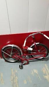 """Vintage 1960s 1970s SCHWINN PIXIE 16"""" Red w/ solid tires"""