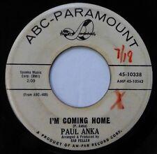 PAUL ANKA 45 I'm Coming Home/Cry ABC-PARAMOUNT pop PROMO ct204