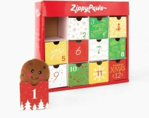 ZIPPY PAWS  12 Day Dog Toy Advent Calendar New In Box FREE P&P