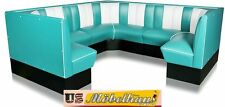 HW-240/240-T American Diner Bench Corner Seat Furniture 50´S Retro USA Style