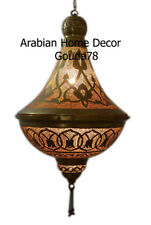 Handcrafted Moroccan oxidize gold Brass Lamp Light Lantern Ceiling Fixture