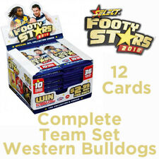 2018 AFL SELECT FOOTY STARS CARDS COMPLETE TEAM SET - WESTERN BULLDOGS