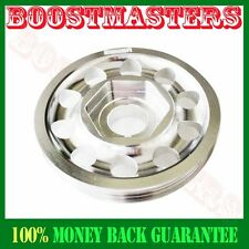 For 88-00 Civic B16 B18 Single Belt Aluminum Performance Silver Crank Pulley