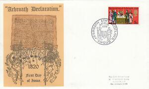 (63467) GB Thames FDC Declaration of Arbroath Angus 1970