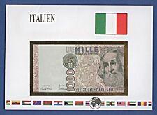 Banconote lettere del mondo Italia 1000 Lire # TC 100371 o mille franchi nb-a16/55