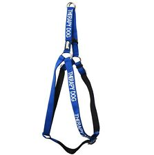 THERAPY DOG Blue Padded Adjustable Strong Working Dog Strap Harness Or Lead Sets