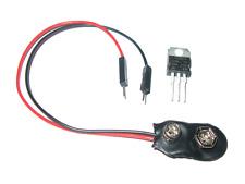 7805 CV 5V Festspannungsregler + 9V Batteriehalter Pinheader Arduino Breadboard