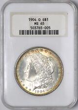 1904-O Morgan Silver Dollar Old Fat Holder Gem $1 - NGC MS65 -