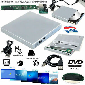USB 2.0 External Laptop To IDE RW CD DVD Rom COMBO Drive Caddy Case Casing Cover