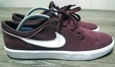 NEW Nike SB Portmore II Crush/white Burgundy Skate Shoes Mens Sz 10.5 880266-600