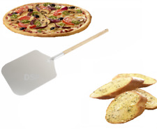 "9x11x23""in Aluminium Pizza Peel Removable Wooden Handle Baker PaddleShovel Barbq"