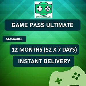 XBOX LIVE GOLD + Game Pass Ultimate 12 MONTH (52 x 7 DAYS) 100% AUTHENTIC SALE