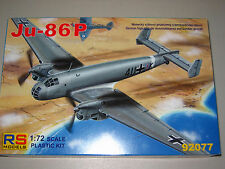 1/72 Scale RS Models Junkers Ju-86 P High Altitude Bomber