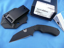 Benchmade 125BK Azeria Back Up Knife N680 Stainless Molded Clip Sheath