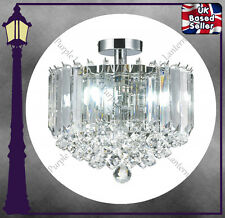 THE LARGE FLUSH FITTING LANCASTER PENDANT - ACRYLIC CRYSTAL - LIGHT CHANDELIER