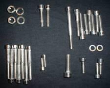 YAMAHA DT1  DT-1 POLISHED STAINLESS ENGINE BOLT SCREW kit SET DT250 1968-71 DT1E