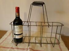 Ancien porte bouteille en fer Casier Panier - Vintage iron bottles Carrier #10