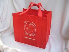 Reusable Grocery Shopping Bags - 10 RED bags with Shipping and **FREE Wine Bag**