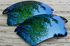 Mirrored Dark Blue Polarized Replacement Sunglass Lenses for Oakley Fast Jacket