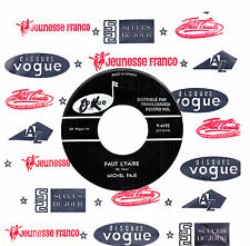 CANADA NM FRENCH BEAT POP ROCK 1960s 45 RPM MICHEL PAJE : LES 12/18
