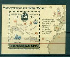 BATEAUX- SHIP BAHAMAS 1988 Discovery of America 500th Anniv. block