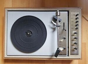 DDR Stereo Schallplattenspieler Plattenspieler ZIPHONA RUBIN 523 inkl. Deckel