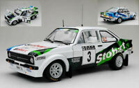 Model Car Rally Scale 1:18 SunStar Ford Escort Mkii Rs diecast Layout