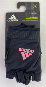 Adidas Climalite Ess Adjustable Size S Small Essential Gloves Black/Pink 12443