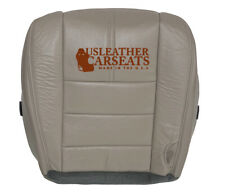 2008-2010 Ford F250 Lariat Driver Bottom Leather Seat Cover Medium Stone Gray