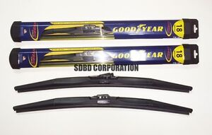 1978-1988 Chevrolet Monte Carlo Goodyear Hybrid Style Wiper Blade Set of 2