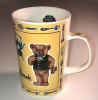 "Harrods Knightsbridge London Bone China Bear Mug 4"" Tall"