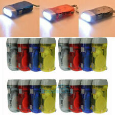 LOTS Rechargeable Camping LED Flashlight Torch Hand Crank Dynamo Emergency Light