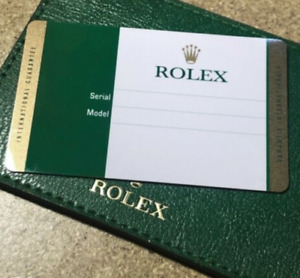 ROLEX Latest Warranty Card Guarantee Guide