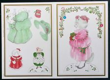 Merry Catnip Victorian Cat & Mouse Paper Doll Greeting Card,Unused, Michel & Co.