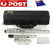 Concert Flute Silver Plated 16 Holes C Key Cupronickel Woodwind Instrument AU