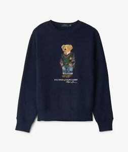 Polo Ralph Lauren Men's Bear Logo Jumper Sweatshirt Navy Limited Edition size S