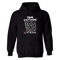 Funny Mens personalised TShirt Hoodie Think Outside Of The Box Joke Novelty Gift