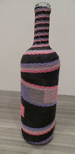 """12"""" HANDMADE WOVEN TELEPHONE WIRE VASE WRAPPED BOTTLE SOUTH AFRICA ZULU GLASS"""