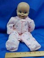 """Lifelike Smiling Baby Doll Tammy marked 16"""" Newborn Small VTG Clothes Halloween"""