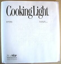 Cooking Light - May 2018 (Braille for the blind)